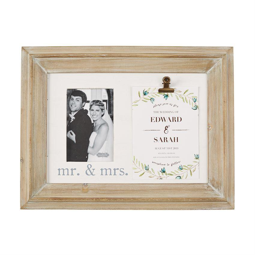 Mr. & Mrs. Binder Clip Invitation Frame