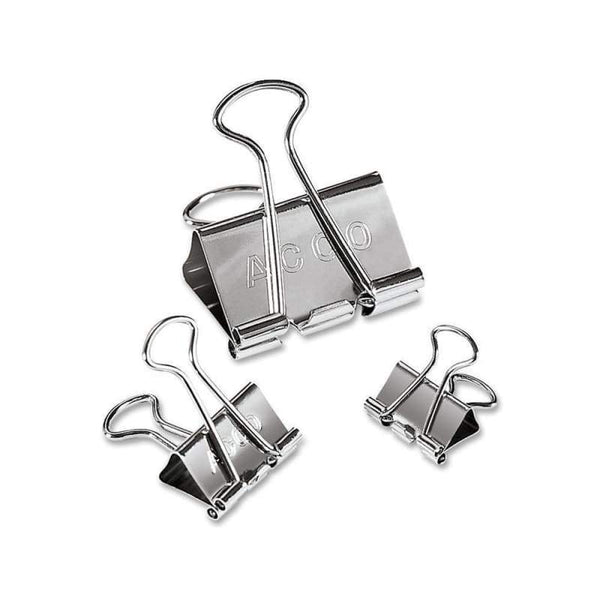 Acco Presentation Binder Clips, 30/Box-Includes 12 Mini,12 Small,6 Medium