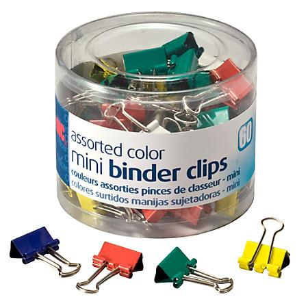 OIC Assorted Color Binder Clips Tub