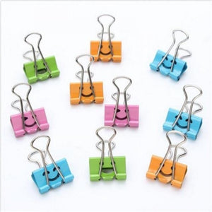 1 Pc Smile Metal Binder Clips For Home Office School File Paper Organizer