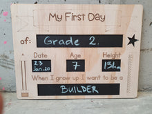 Load image into Gallery viewer, First Day of School Sign Reversible