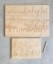 Load image into Gallery viewer, Wooden Alphabet Tracing Board