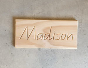 Wooden Name Tracing Boards