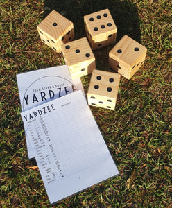 Yardzee Giant Dice Yard Game