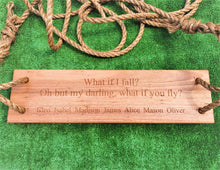 Load image into Gallery viewer, Personalised Wooden Swing