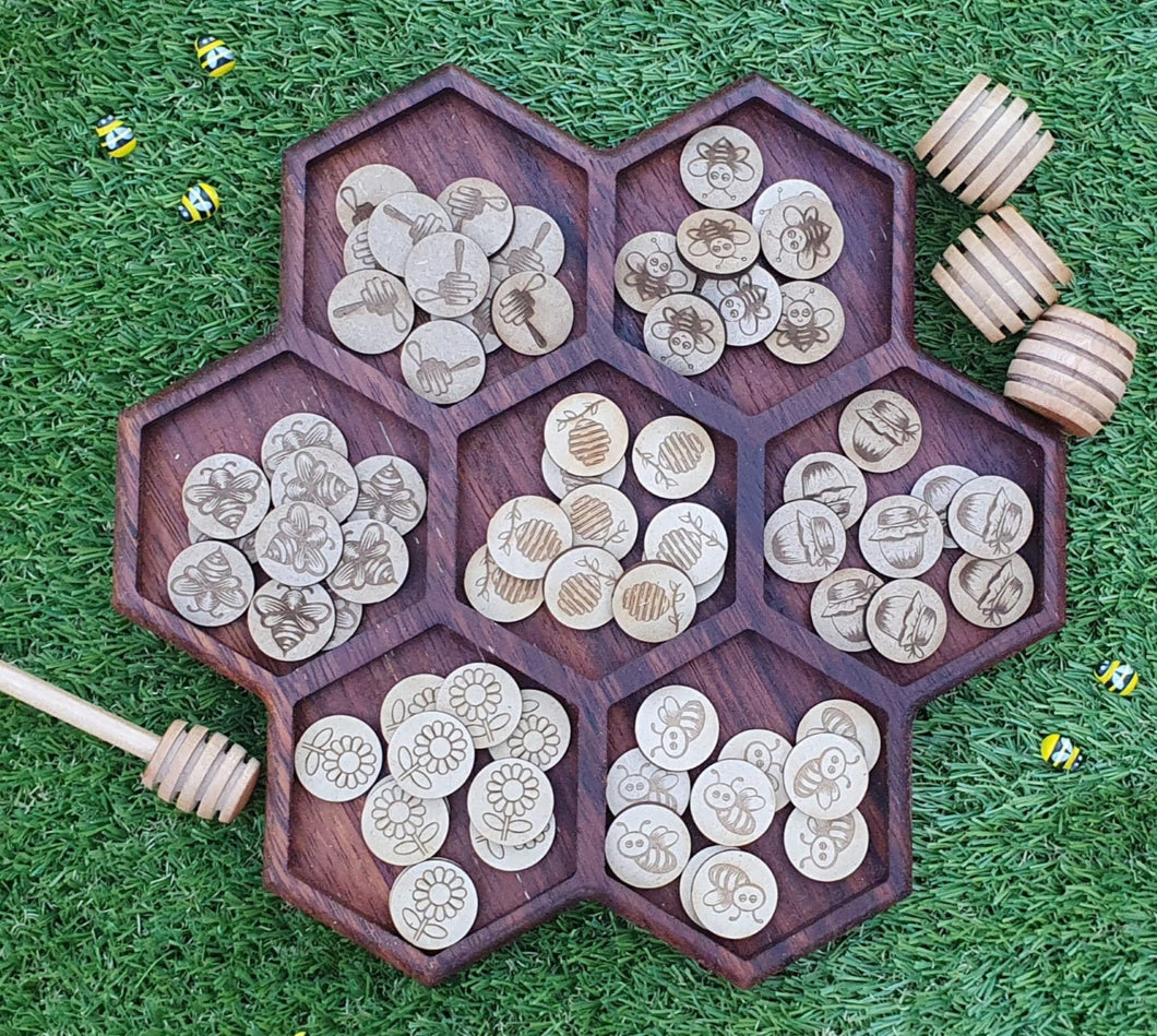 Honeycomb Bee Sorting Tray