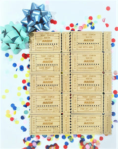 Birthday Coupon Tickets