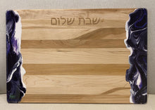 Load image into Gallery viewer, Wood and Resin Challah Board