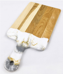 Wood and Resin Cheese Board  with Handle