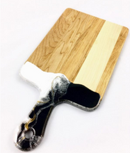Load image into Gallery viewer, Wood and Resin Cheese Board  with Handle