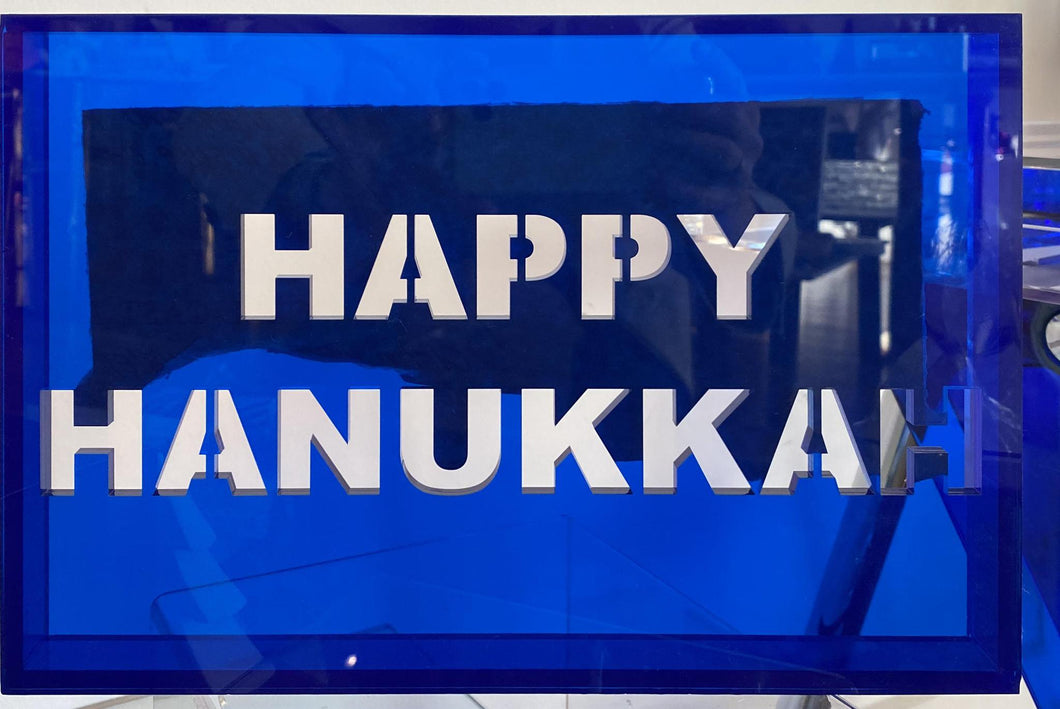 Acrylic Phrase Sign-Happy Hanukkah