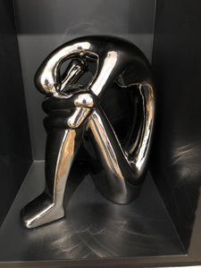 Large Bent Man Sculpture