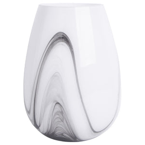 Atlantis Black and White Glass Vase