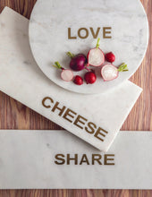"Load image into Gallery viewer, White Marble & Gold ""Cheese"" Board"
