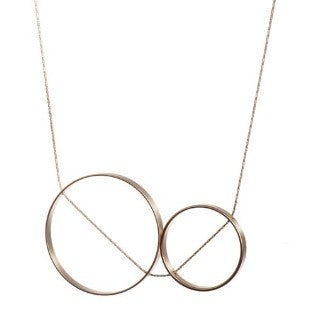 Duet Short Necklace - Matte Black
