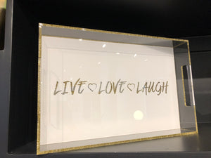 Live, Love, Laugh Tray