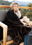 Load image into Gallery viewer, Sable Faux Fur Throw