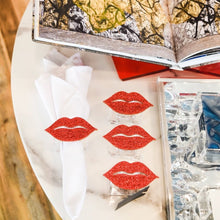 Load image into Gallery viewer, Acrylic Glitter Napkin Rings-Lips