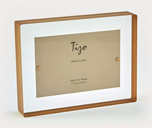Lucite Frame with Gold Border