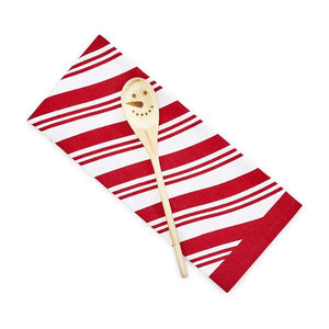 Peppermint Dish Towel and Mixing Spoon Set