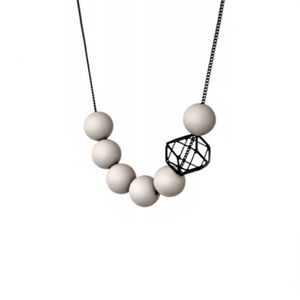 Hex Hex Short Necklace - Black/Grey