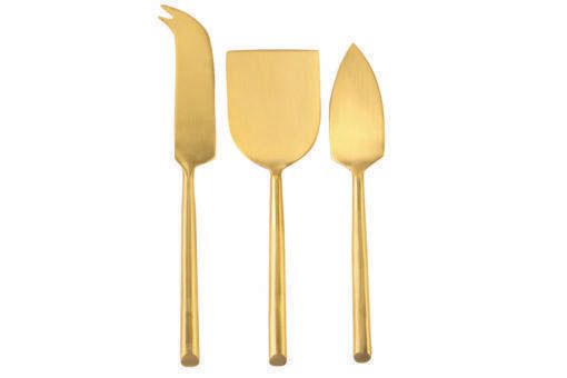 Matte Gold Cheese Set of 3