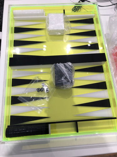 Acrylic Neon Backgammon