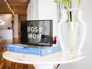 Acrylic Phrase Sign-Boss Mom