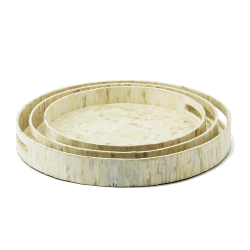 Mother of Pearl Round Tray
