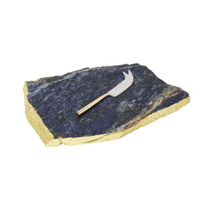 Blue royal sodalite Tray with Knife