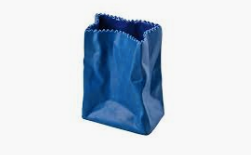 "Bag Vase 4""-Deep Blue"