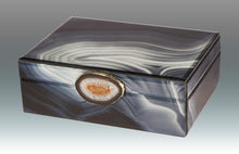 Load image into Gallery viewer, Marble Glass Box with Stone Grey