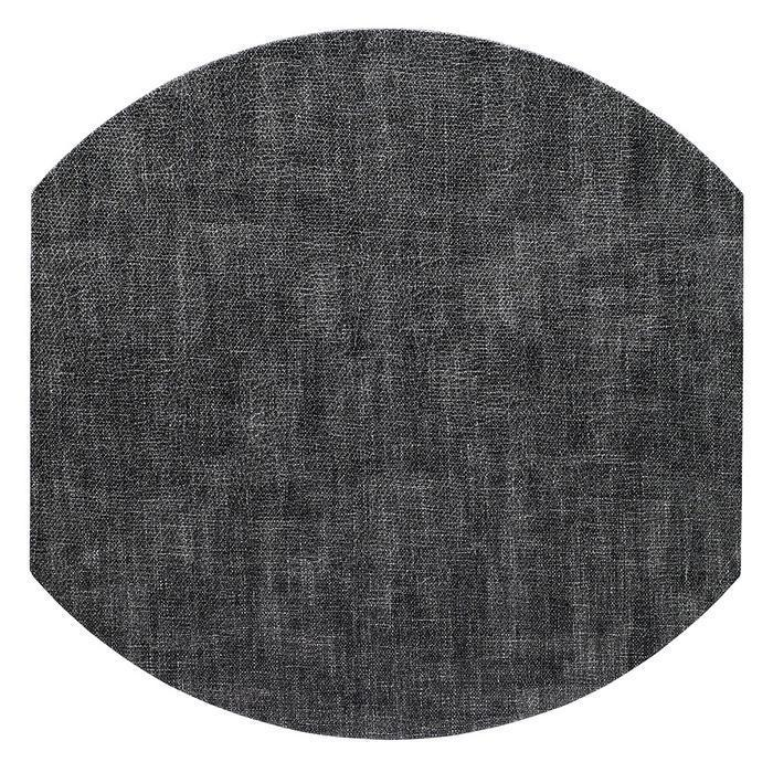 Luster Elliptical Placemat-Smoke