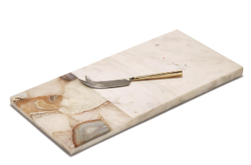 Agate Marble Cutting Board With Knife
