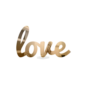 Metallic Love Cursive Tabletop