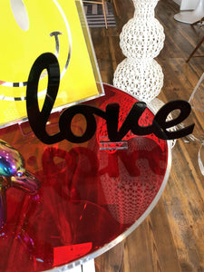 Cursive Love Acrylic Sign