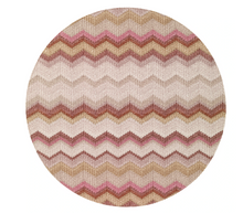"Load image into Gallery viewer, Bargello 15"" Round Mat (Set of 4)"