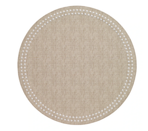 Pearls Round Woven Placemat (Set of 4)