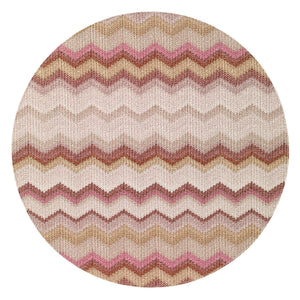 "Bargello 15"" Round Mat (Set of 4)"
