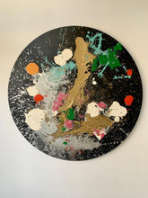 "Load image into Gallery viewer, Jeanne Saade Circle Canvas-40"" Diameter"