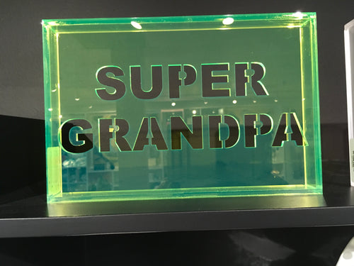 Acrylic Phrase Sign-Super Grandpa