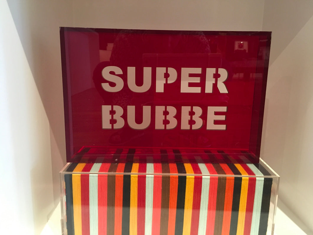 Acrylic Phrase Sign-Super Bubbe