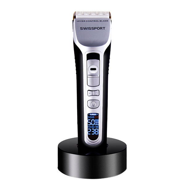 Electric Hair Clipper Rechargeable Hair Trimmer Titanium Ceramic Blade LCD Display