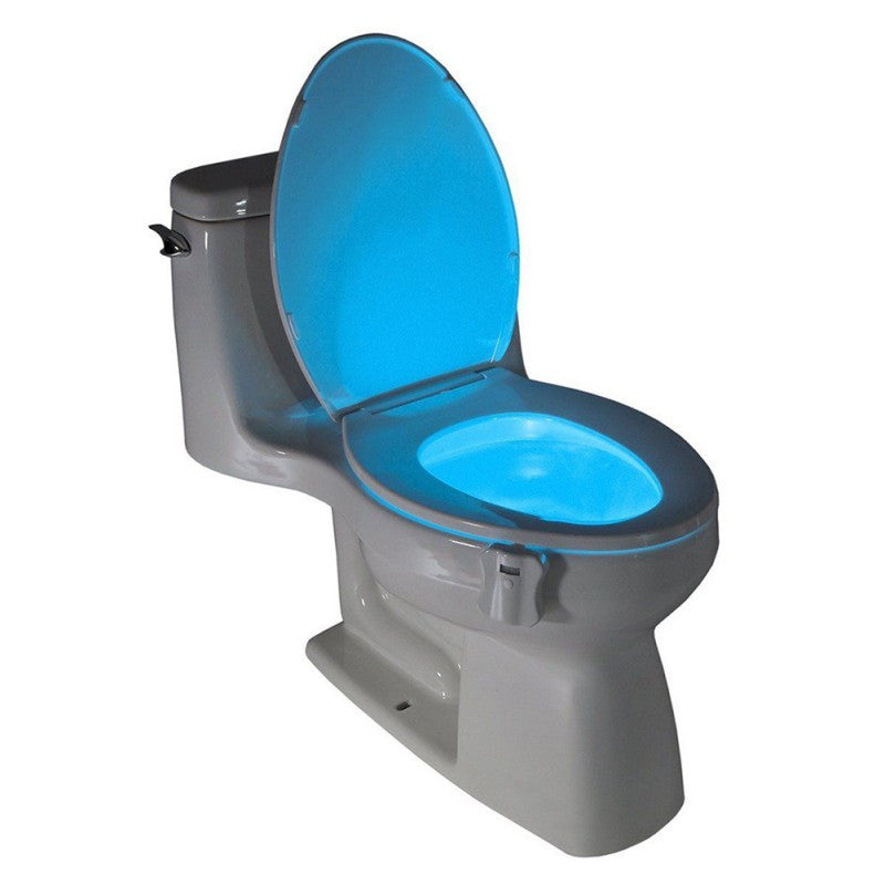 8 Colors Auto Change Infrared Induction light PIR Motion Sensor Toilet Seat