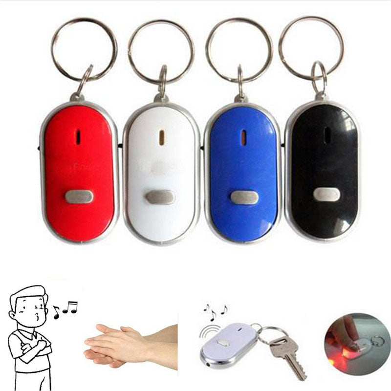 2018 New Whistle Sound Anti Lost Key Finder Wireless Smart Flashing Beeping Remote Lost Dog Pet Locator Keyring With LED Torch