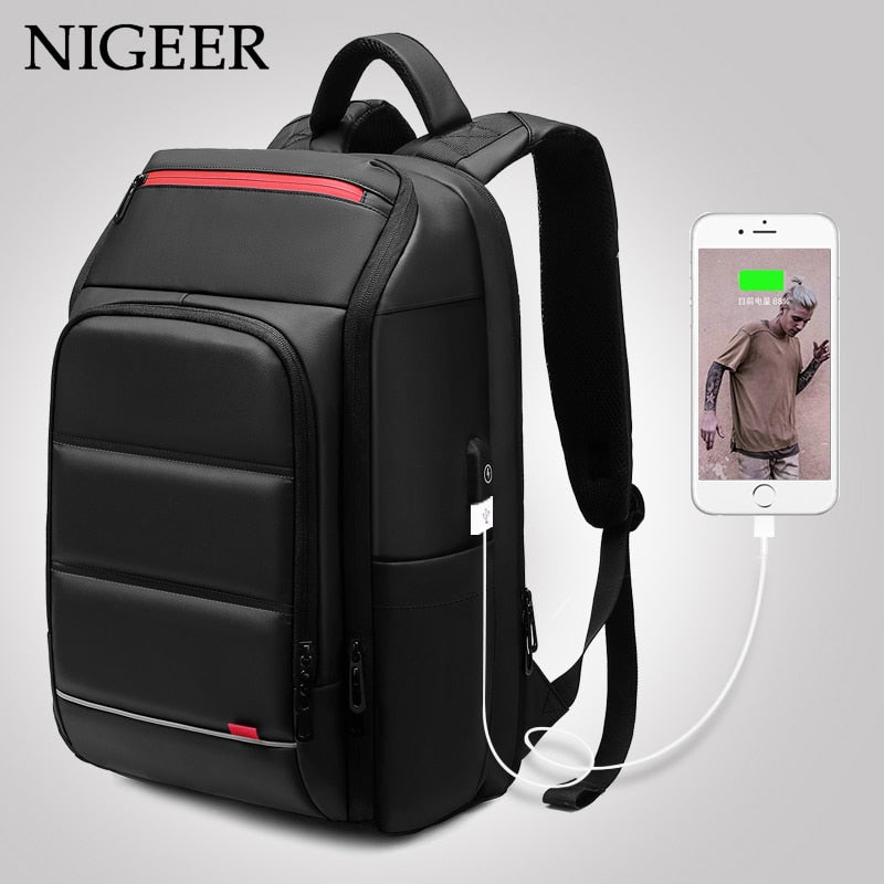 Laptop Backpack For Men With Water Repellent Functional Rucksack with USB Charging Port