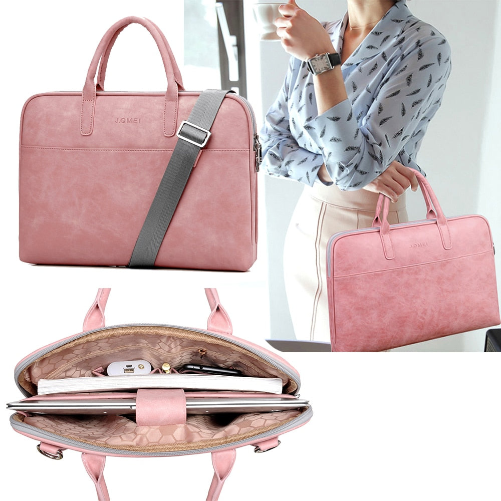 2019 Fashion new PU waterproof Scratch-resistant Laptop Shoulder Bag 13 14 15inch Notebook Shoulder Carry Case for MacBook Air