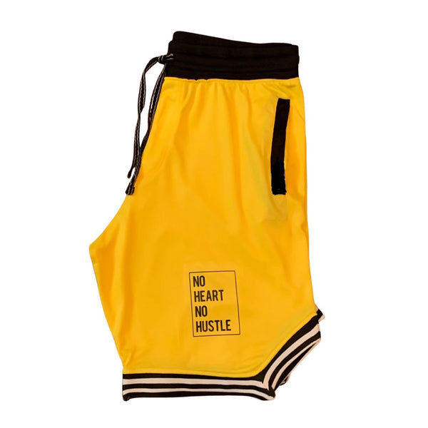 Yellow Throwback Basketball Shorts
