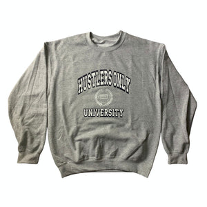 Hustlers Only University Grey & Navy Sweatshirt