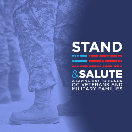 Stand & Salute 2020 - An online giving day to honor OC veterans and military families